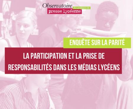 L'Observatoire des pratiques de presse lycéenne mène une enquête sur la parité dans les médias lycéens
