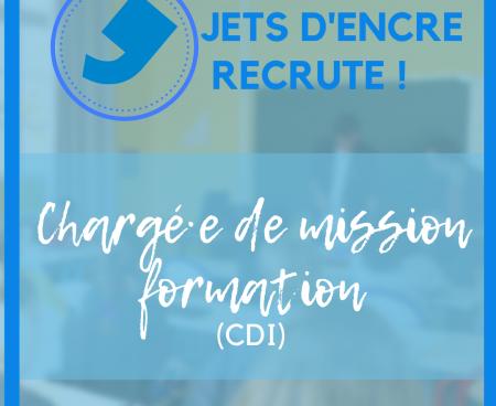 CDI – Jets d'encre recrute un·e chargé·e de mission formation
