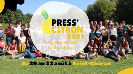 Les inscriptions à l'université d'été Press'citron sont ouvertes !