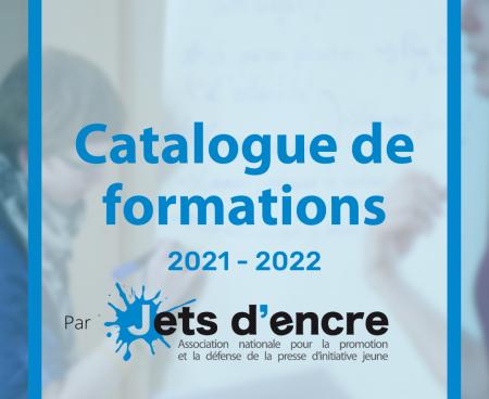 Découvrez le catalogue de formations éducation aux médias 2021-2022 de Jets d'encre !